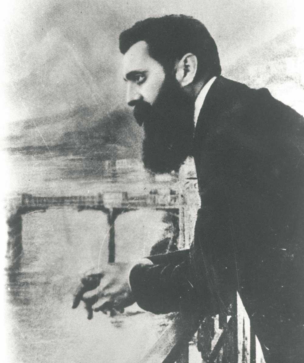 Porträttbild på Theodor Herzl