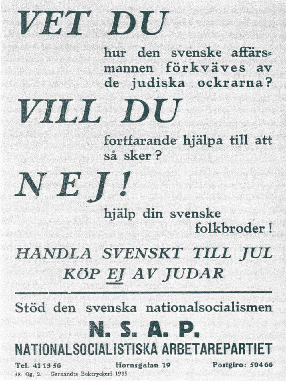 Foto på nazistiskt flygblad