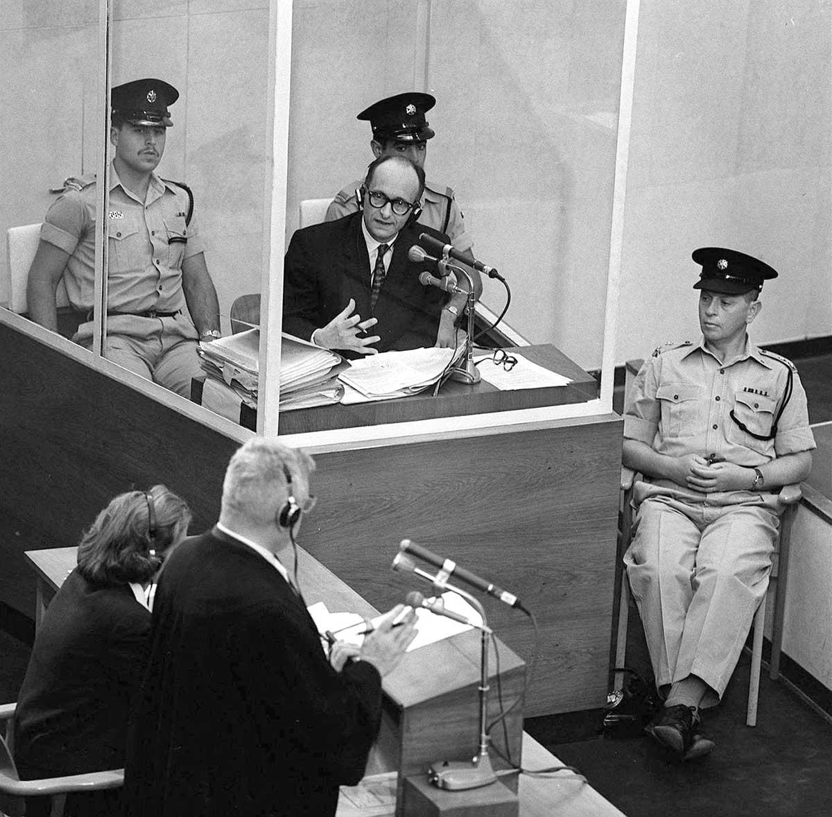Adolf Eichmann i rättssal 1961